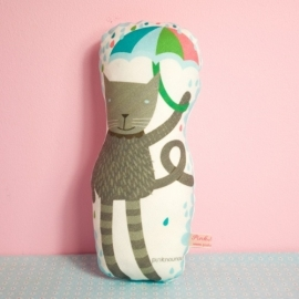 """Kussen Kinderkamer """"Cat Reinaldo"""" van PinkNouNou"""