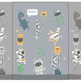 Inke XL Muurprint Vliesbehang Stack- O-Monsters