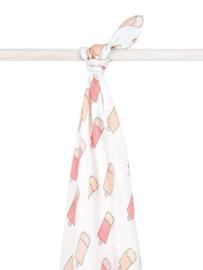 Hydrofiel handdoek/laken Icecream Peach Jollein 140x200cm