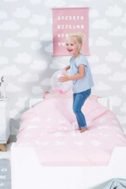 Kinder Dekbedovertrek ABC Blush pink Jollein
