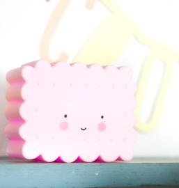 Nachtlampje Mini Koekje-Roze A Little Lovely Company