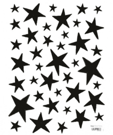 Muurstickers Kinderkamer Little Black Stars