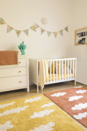 Vloerkleed Kinderkamer Clouds Mustard