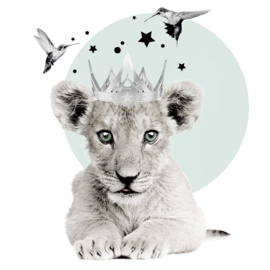 Muurstickers Kinderkamer Little Lion