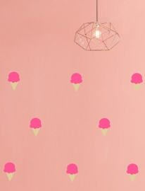 "Muurstickers Kinderkamer ""Icecream Soft Pink"""