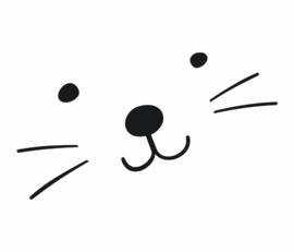 Paneelbehang Kinderkamer Catface 2 formaten Fabs World