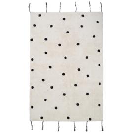 Kinderkamer Vloerkleed Dots Black