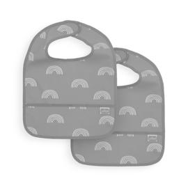 Slab Waterproof Rainbow Grey Jollein 2-pack