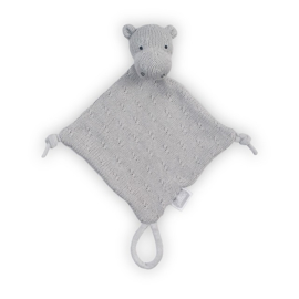 Knuffeldoekje Soft Knit Hippo Light Grey Jollein