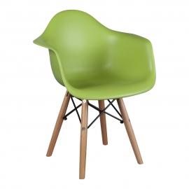 Kinderstoel Eames Junior Groen