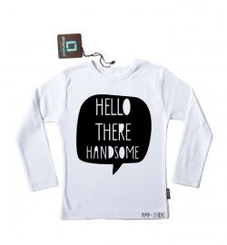 Strijkapplicatie 'Hello there handsome' van Pimp-Studio
