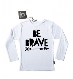 Strijkapplicatie 'Be Brave' van Pimp-Studio