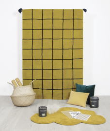 Vloerkleed Kinderkamer Wolk Mustard van Lilipinso