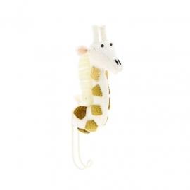Wandhaakje Dierenkop Giraf Wit van Fiona Walker