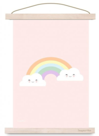Kinderkamer Poster Pastel Cloud & Rainbow
