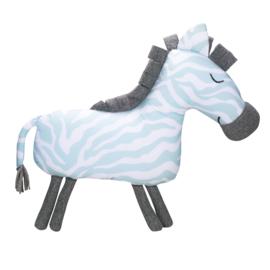 Knuffel Kussen Zebra Seagreen van Kidsdepot
