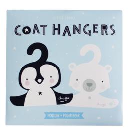 Kledinghanger set Pinguïn & ijsbeer A Little Lovely Company