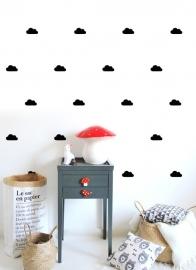 Muurstickers Kinderkamer 'Wolken' zwart/zilver van POM (Pöm Le Bonhomme)