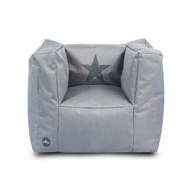 Fauteuiltje beanbag Faded star grey van Jollein