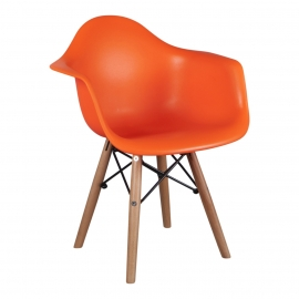 Kinderstoel Eames Junior Oranje