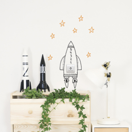 Muursticker Kinderkamer Chispum: Switch Rocket