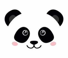 Paneelbehang Kinderkamer Panda Face 2 formaten Fabs World