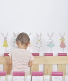 Muurstickers Kinderkamer Rabbit Girl van Lilipinso