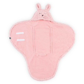 Wikkeldeken Bunny Pink Jollein