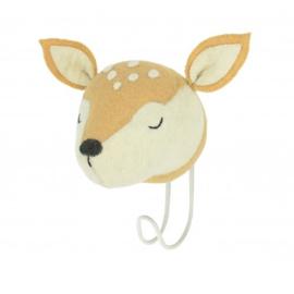 Wandhaakje Dierenkop Sleepy Deer Head van Fiona Walker