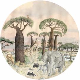 Behangcirkel Kinderkamer Savanna Groot