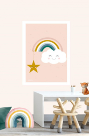 Poster Kinderkamer Wolk met Ster