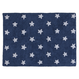 Vloerkleed Kinderkamer Stars Dark Blue