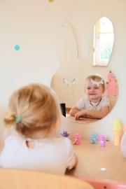 Spiegel Kinderkamer Bunny Mirror Zilver