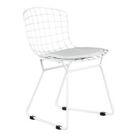 Kinderstoel Vintage wit met wit kussen