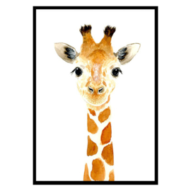 Poster Kinderkamer Baby Giraffe A3