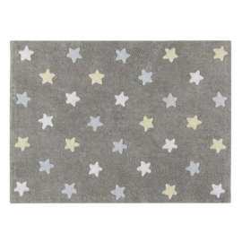 Vloerkleed Kinderkamer Sterren Tri Colors Grey-Blue
