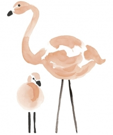 Muursticker XL Kinderkamer Lilipinso: Flamingo Roze