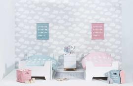 Kinder Dekbedovertrek ABC Blush pink Jollein
