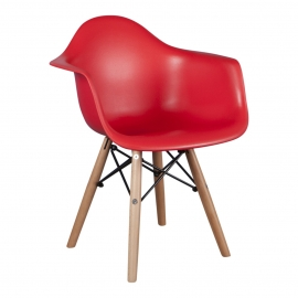 Kinderstoel Eames Junior Rood