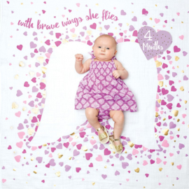 "Lulujo swaddle & Cards ""With brave wings she flies"""