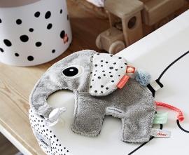 Done by Deer knuffeldoekje Elphee olifant grijs