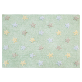 Vloerkleed Kinderkamer Sterren Tri Colors Soft Mint