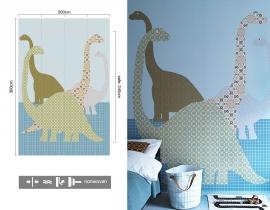 Inke XL Muurprints Behang Dino 103