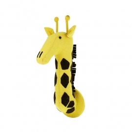 Dierenkop Giraffe Geel van Fiona Walker