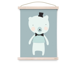 "Poster ""Dandy Mister Polar Bear"" Eef Lillemor"