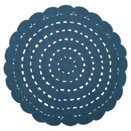 Vloerkleed Kinderkamer Alma Dark blue Nattiot