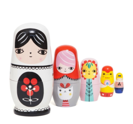 Sketch Inc nesting dolls -babushka's- matroeska's Fleur & Friends Petit Monkey