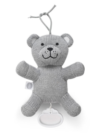 Muziekhanger Natural Knit Bear Grey Jollein
