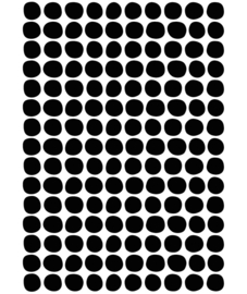Muurstickers Kinderkamer Black Dots