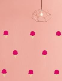 "Muurstickers Kinderkamer ""Icecream Hot Pink"""